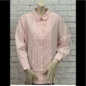 APPLESEED'S PINK PLEATED TUXEDO STYLE TOP NWOT